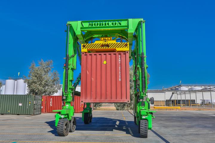 Mobicons Safer & Better Straddle Carrier Trucks