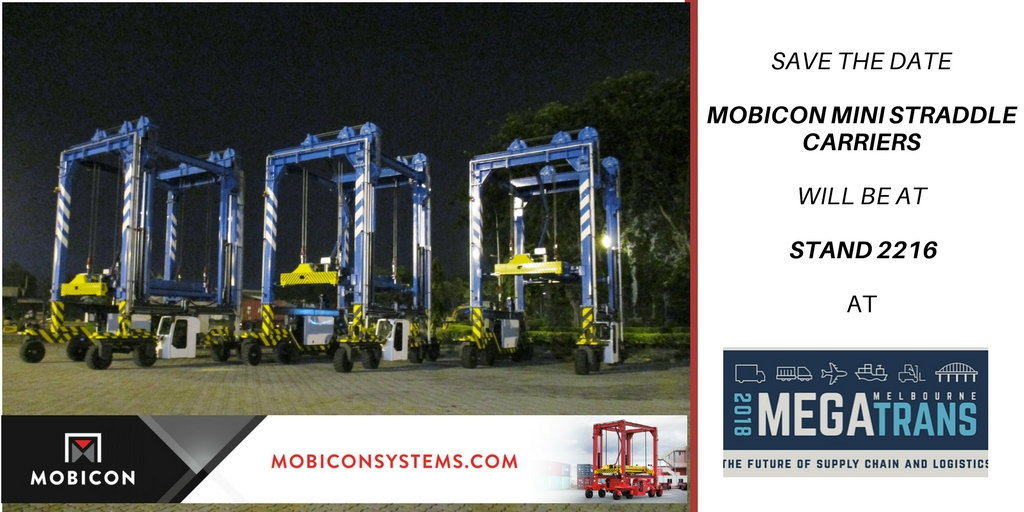Mobicon Mini Straddle Carriers Will Be At MEGATRANS 2018