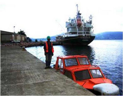 Mobicon saves more space at ports than forklift or reachstacker