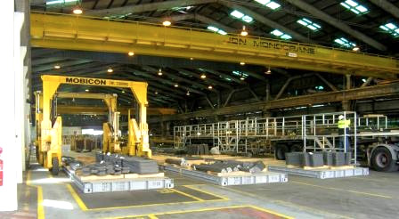 steel-industry use Mobicons for reliable container handling equipment
